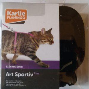 arnés gato Karlie negro